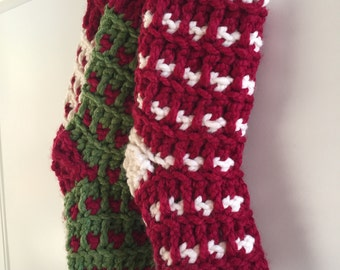 CUSTOM COLOR - Chunky Stripes Christmas Stocking