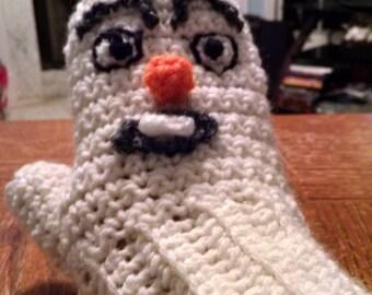 decorative warm mitten