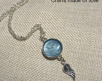 Light blue angel pendant