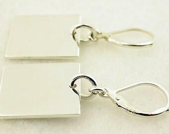 Sterling Silver Lever Back Earrings 38