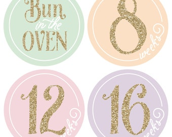 Pregnancy sticker, belly stickers, gold stickers, baby bump stickers, maternity stickers