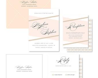 Wedding Invitation Suite Sample - Intersect