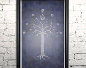 """Return of the King word art print - 11x17"""" Framed"""