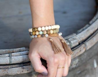 Luxme Co 8mm Amazonite Beads Stretch Bracelet
