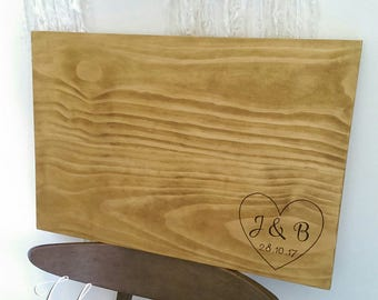 Guestbook alternative - Personalised wooden signing board - guest book / wall hanging