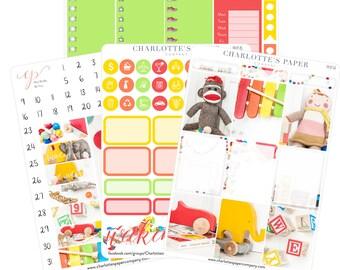 Planner Sticker Kits / Toy Planner Stickers / Planner Stickers / Erin Condren Planner Stickers / Weekly Sticker Kit / Photo Kit / PH7