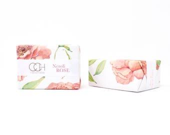 Savon à la Rose de néroli 4 barre de savon à la main Collection - livraison gratuit
