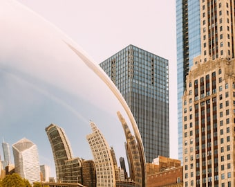 Chicago Photography - The Bean photo print - Urban art - City wall decor - Travel Photo - Chi Town - Color photography - Black and white