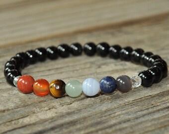 7 Chakra Mala Bracelet, Yoga Bracelet, Healing Bracelet, Meditation Bracelet, Crystal Healing, Chakra Healing Bracelet, Earth Star Chakra