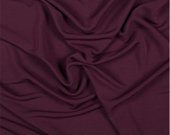 Maroon Matte Jersey, Fabric By The Yard