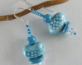 Aqua Blue Sparkle Earrings