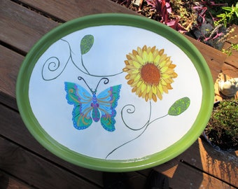 Large Hand Painted Serving Tray