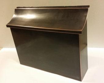 Flush Mount Patina Copper Mailbox