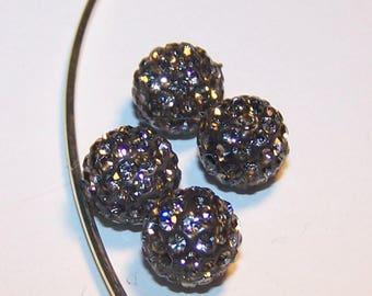 making shamballa 10mm gray pearls