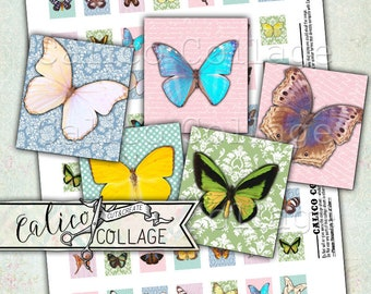Printable, Papillons Jolies, Scrabble Tile Images, Butterfly, Collage Sheet, Scrabble Images, Pretty Butterflies, Images for Pendants