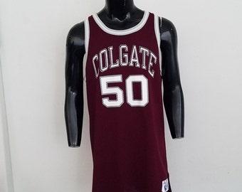 Vintage Authentic Colgate University Champion Basketball Jersey
