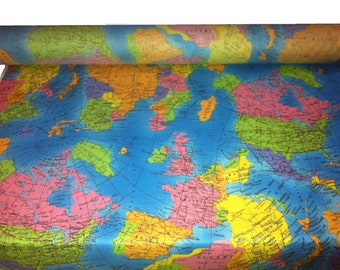 Scarlet red crepe triacetate flowy fabric shiny material flowy globe world map fabric material soft 100 cotton poplin 53 136cm wide perfect fabric for kids turquoise blue gumiabroncs Images