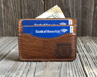 Personalized Wallet - Credit Card Wallet - Thin Wallet - Monogram