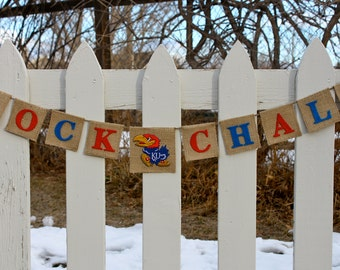 KU Jayhawks - Jayhawks Banner, Ku Banner, KU Graduation, Ku Jayhawks Decor, Graduation Party Decor, Ku Jayhawks, Kansas Jayhawks, Rock Chalk