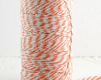 Orange Baker's Twine, Cotton Twine, 10 yd. Gift Wrapping, Party Supplies, Halloween Ribbon, Baking Supplies, Jewelry Supplies, Thanksgiving