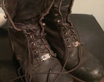 SALE SALE SALE Vintage mans sz 9D vintage leather Chippewa steel toe work boots, grunge boots, leather boots man's size 9D,