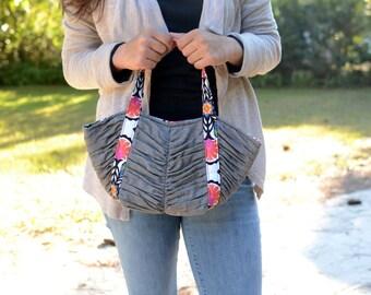 Mini Tulip Tote Pattern, PDF handbag pattern