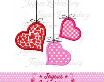 Instant Download Valentine day Heart Applique Embroidery Design NO:1903