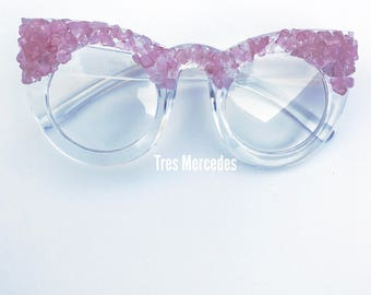 Rose Quartz Cateye glasses