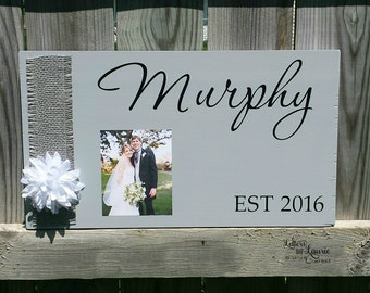 Unique Wedding Gift, Anniversary Gift, Wedding Sign, Personalized Wedding Gift, Family Established Sign