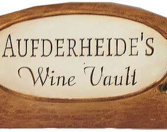 Personalized Wine Cellar Door Topper