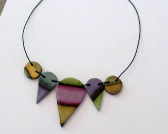 Necklace drops antique kind shades of color