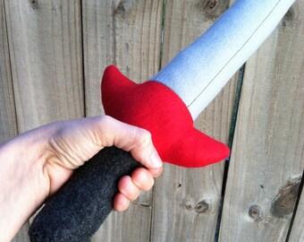 Felt Sword for adventuring, imaginative play