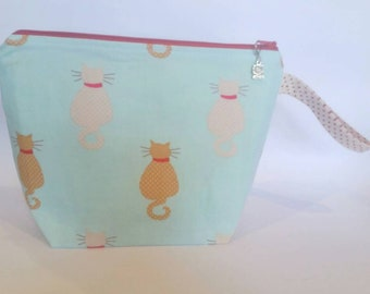 Medium Project Bag 'Dotted Cats'