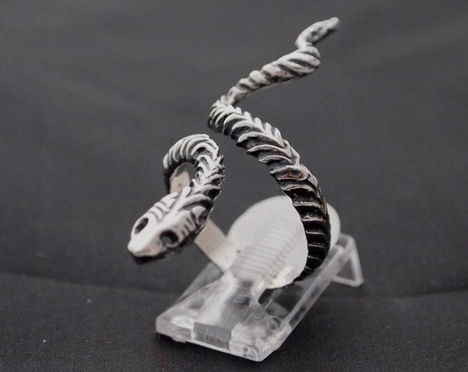 Ajustable Sterling Silver Snake Ring