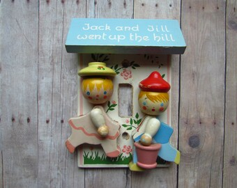 Adorable Jack and Jill Switchplate Cover - Cute in Nursery