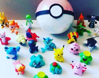 Large Kids Pokemon Inspired Bath Bomb with Toy Inside