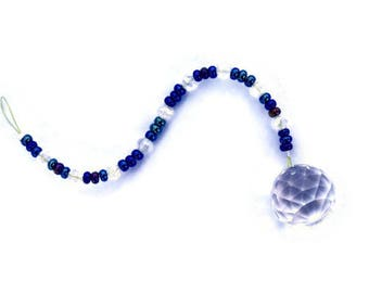 Crystal Sun Catcher 20 mm lila schwarz schillernden Perlen Regenbogen Feng Shui Ornament Suncatcher