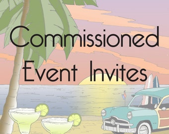 Commissioned Event Invitation