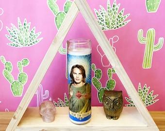 Friday Night Lights Saint Tim Riggins // Taylor Kitsch Prayer Candle