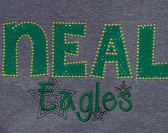 School Letter Shirt Teacher Shirt Mascot Shirt School Initial Shirt Learning Center Shirt