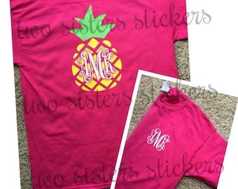 SHORT SLEEVE Pineapple Monogrammed Shirt for Youth or Adult