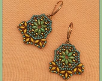 Earrings with Superduos