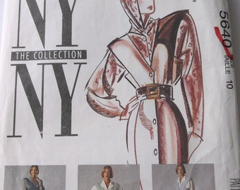 Mccalls 5640 Misses Jumper,Vest,Blouse,Pants Pattern, New York The Collection New York, Misses Size 10 Jumper Pattern