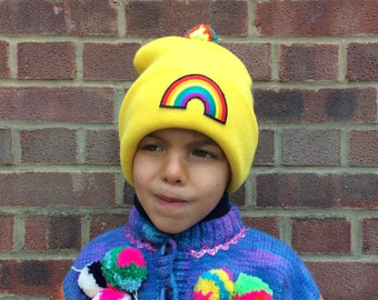 RAVE Kids Hat Childrens Cap with Pom Pom in Acrylic One Size 4 Years Plus Unisex