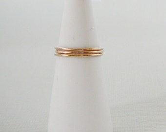 Set of 3 stacking rings ..14 kt Gold Filled Ring, skinnies thin skinny stacker ring midi knuckle ring