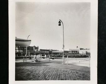 Original Vintage Photograph The Lamp on the Boardwalk