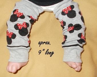 Leg warmer, Infant- Cartoon in black and  on grey background  -infant leg warmer,  leg warmer, baby girl leg warmer, baby leg warmer