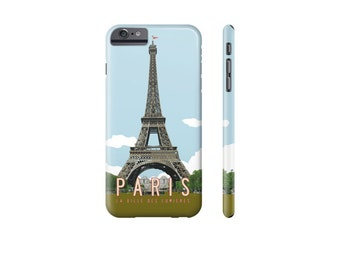 PARIS iPhone Case, iPhone X Case, iPhone 7 Case, Eiffel Tower, Samsung Galaxy s7 Case, Unique iPhone 6 Case, Travel Poster Phone Cover.