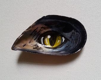 Mussel magnet, Shell magnet, Fridge magnets, Beach magnet, Custom magnet, beach kitchen decor, Magnets, Ocean art, Hand painted magnet