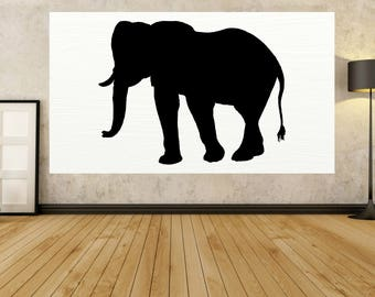"""Abstract Painting on canvas, PAINTINGS Big LARGE ELEPHANT """" 30"""" to 80"""" Modern, Original painting contemporary painting Home By Jerry Titan"""